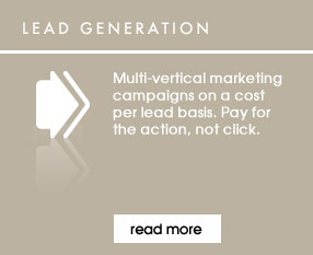 Multi-vertical marketing campaigns on a cost per lead basis. Pay for the action, not click.